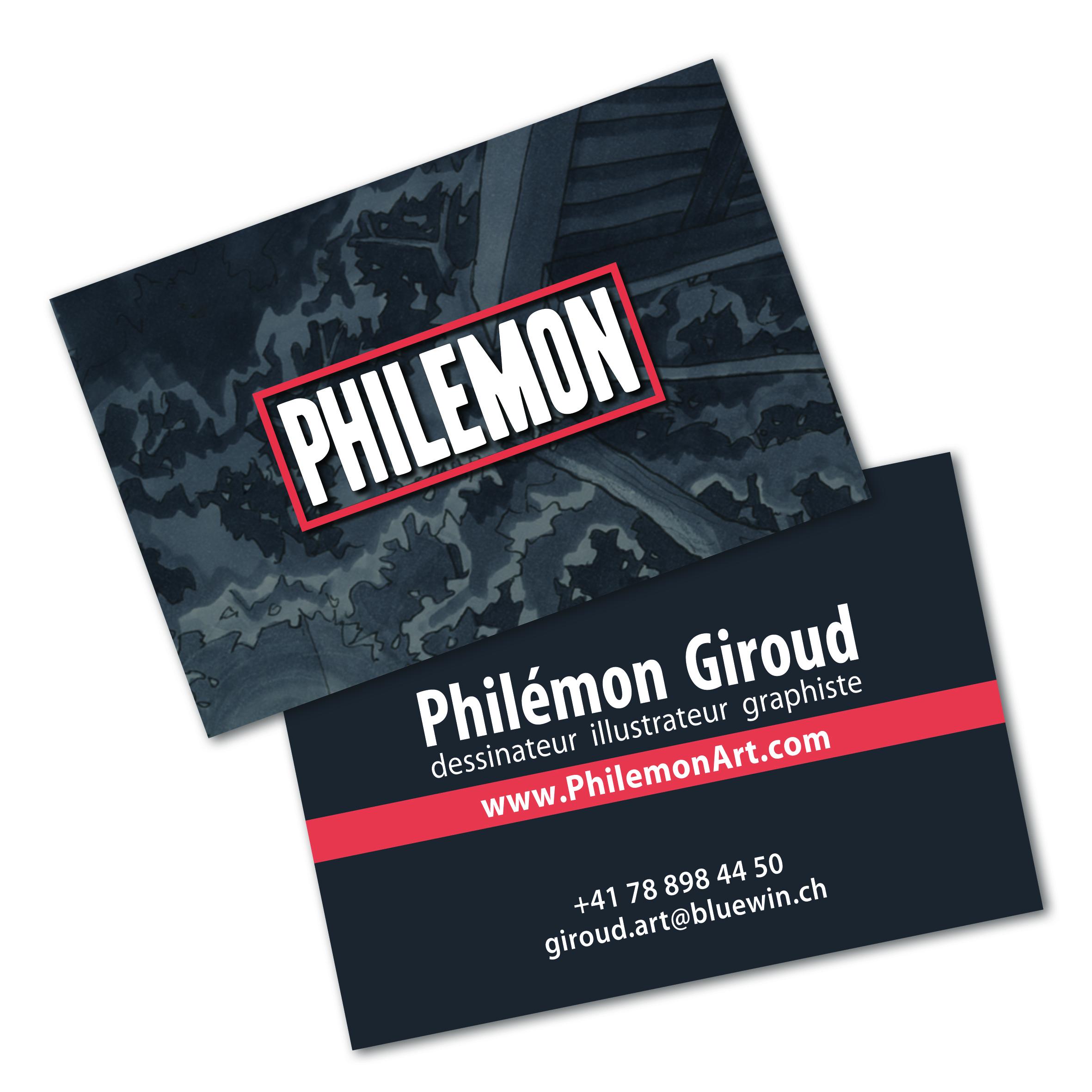 CARTE VISITE PHILEMON PHILEMON GIROUD