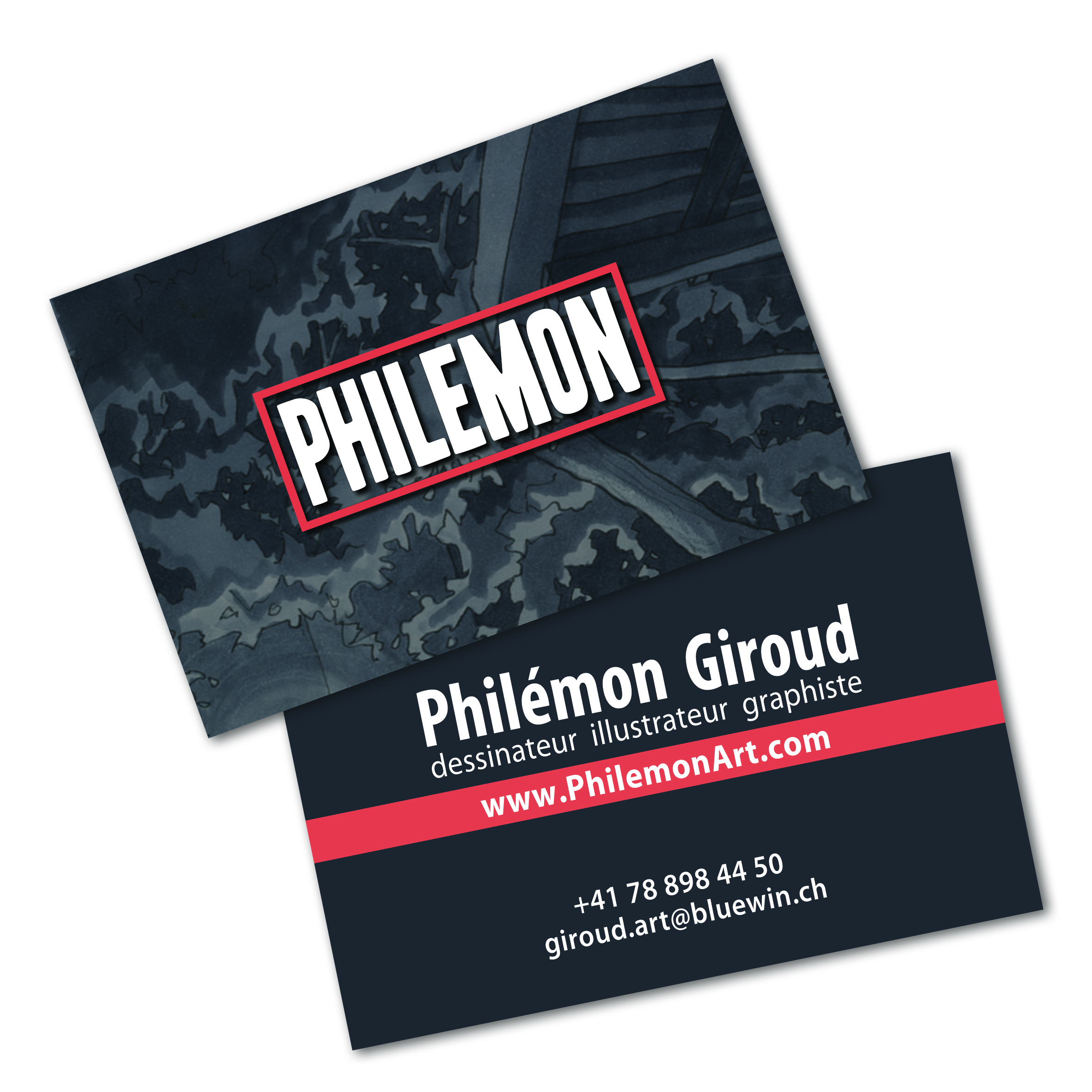 CARTE VISITE PHILEMON
